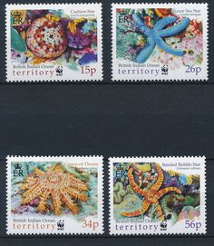 C5322 B I O T 2001 WWF Marine Good Very Fine MNH Set of Stamps | eBay