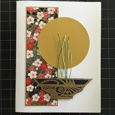 handmade card from FLAT FISH PAPER ARTS ... clean and simple ... three main elements ... Asian theme ... by Lisa ... one of my first card class teachers ...