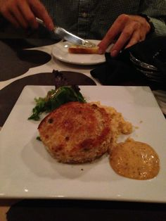 Lenora's crab cake - Oxford, MS (photo by Brandi Anderson)