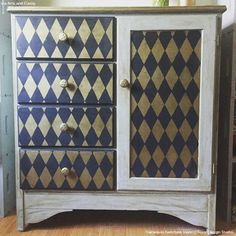 12 Affordable Decorating Ideas with Furniture Stencils - Colorful, Bold, and Chic DIY Painted Furniture Projects - Royal Design Studio