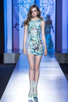 #Printed #Silk  #Mini dress - Atelier Versace Autumn Winter 2012