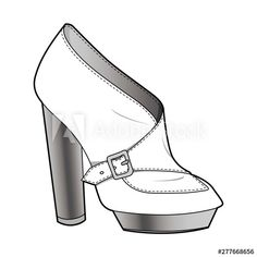 Shoes fashion flat sketch template - 이 스톡 벡터 구입 및 Adobe Stock에서 유사한 벡터 검색 | Adobe Stock Fashion Flats, Girl Fashion, Fashion Design, Top Tee, Flat Sketches, Designer Shoes, Stock Photos, Girls, Beautiful