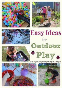 Easy ideas and inspiration for outdoor play at home - A weekly series by Mummy Musings and Mayhem