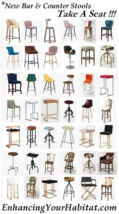 bar stool counter stool modern rustic industrial glam mid-century western southwestern Santa Fe Parisian backless wood metal gold silver leather hide white black velvet contemporary eclectic shabby directors pink blush yellow blue grey