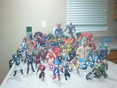 marvel legends lot 60 figures hulkbuster groot mojo sentinal onslaught galactus