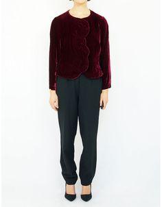 KRIZIA MAGLIA - Vintage velvet blazer.