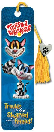 Twisted Whiskers - Trouble - Collector's Beaded Bookmark