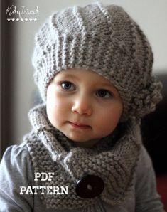 Bonnet et écharpe tricot - Knitting And Crocheting Bonnet Crochet, Knit Crochet, Crochet Hats, Knitting Projects, Knitting Patterns, Crochet Patterns, Neck Scarves, Single Crochet, Baby Hats