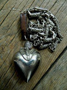 RESERVED FOR RITA-sacred perfume bottle necklace. $162.00, via Etsy.