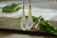 Boucles doreilles Alstroemeria / véritable pressé par HadleysCloset