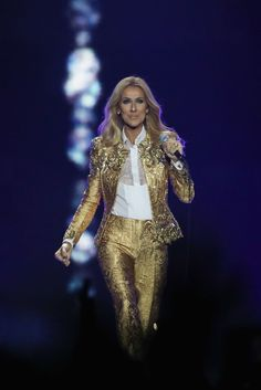 Celine Dion makes some of the most eye-catching fashion choices, and it's a delight to see. Click through to explore her sartorial world. Celine Dion Tour, Forever Love, Separates, Cosmopolitan, Concert, Las Vegas, My Style, Music, Photos