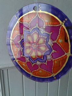 Mandala  en vidrio, 15cm