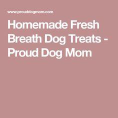 Homemade Fresh Breath Dog Treats - Proud Dog Mom