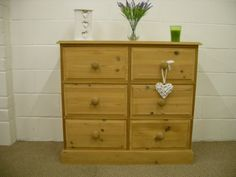 LARGE SOLID PINE CHUNKY CHEST OF DRAWERS **CAN COURIER** - W 106 - D 46 - H 98 CM - £195 http://www.drabtofabfurniture.co.uk/tables/