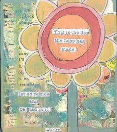Items similar to this is the day, scripture art, Psalms, art print, sunflower art on Etsy
