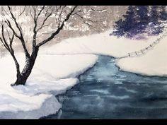 Рисуем парк. Массу деревьев, Осенняя пора. Акварель. Autumn park in watercolour - YouTube