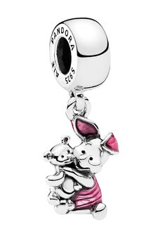Add some sparkle to your Pandora bracelet with this adorable Piglet charm. - Sterling Silver