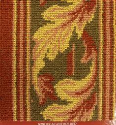 Bordure pour moquettes wilton collections Brighton et Harlequin - Bordure modéle: Feuilles d'acanthe - Col: Red
