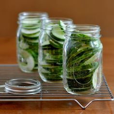 Easy Homemade Pickles from Real Food Real Deals--sweet pickles