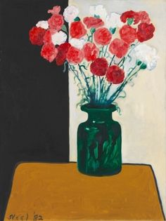 "ALICE NEEL - ""Carnations and Green Vase"" (1983)"
