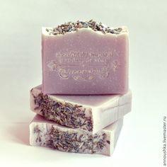 """Купить """"Лаванда"""" - ароматерапевтическое натуральное мыло - сиреневый, натуральное мыло с нуля, мыло ручной работы"""