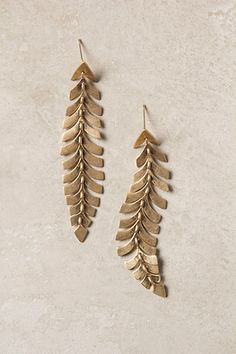 Southbound Plume Earrings #anthropologie I lurrrrrrv anthropology (although not their quadruple  digit price tags)