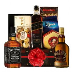 For your special someone who loves a wee dram, our selection of whisky gift box sets offers perfect choice. Top whisky brands boxed with accompaniments. Valentine Day Gifts, Christmas Gifts, Lindt Chocolate, Wooden Chest, Gift Baskets, Whisky, Whiskey Bottle, Jack Daniels, Hamper