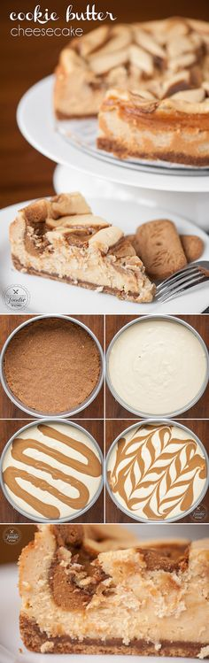 cookie butter pie This Cookie Butter Cheesecake transforms a classic cheesecake into the most delicious dessert with a speculoos cookie crust and cookie butter swirl. No Bake Desserts, Just Desserts, Delicious Desserts, Dessert Recipes, Biscoff Cookie Butter, Butter Cookies Recipe, Butter Pie, Hot Fudge, Ideas Paso A Paso