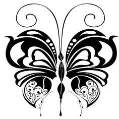 Бабочки (чёрно-белое).. Обсуждение на LiveInternet - Российский Сервис Онлайн-Дневников