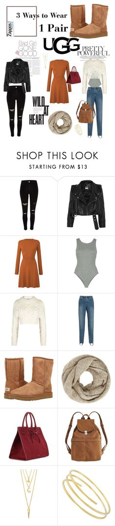 """The Icon Perfected: UGG Classic II ""3ways to wear 1 pair"""" by genevieve-baptiste ❤ liked on Polyvore featuring River Island, Vetements, DKNY, Balenciaga, UGG Australia, John Lewis, Mansur Gavriel, BAGGU and BERRICLE"