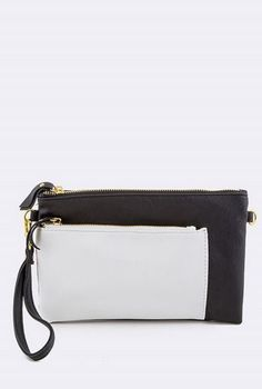 Black and White Pocket Clutch