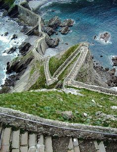 Stairs above the Sea, Aketx, Basque County, Spain.