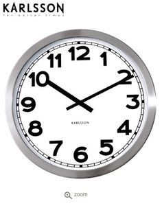 Karlsson Steel Wall Clock, lge50cm