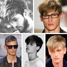 cprtes de pelo liso para hombres con flequillo