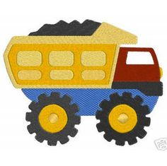 Construction Truck Vehicles Machine EMBROIDERY by SewWithLisaB
