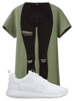 """""""#whatever"""" by sevenjanja ❤ liked on Polyvore featuring Uniqlo, Topshop, NIKE, women's clothing, women, female, woman, misses and juniors"""