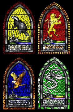 Practical: decorative stained glass inspired by the Harry Potter universe