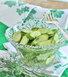 Finnish Cucumber Salad | Tasty Kitchen: A Happy Recipe Community!  When I make a cucumber salad, I always include onions. Besure to refrigerate for a few hours before serving. A couple of my grandkids went wild over this salad!