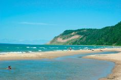 Platte River Point Beach, along Sleeping Bear Dunes National Lakeshore on Lake Michigan, near Traverse City, Michigan Traverse City Michigan, Michigan Usa, Northern Michigan, Lake Michigan, Western Michigan, Michigan Vacations, Michigan Travel, Family Vacations, Places To Travel