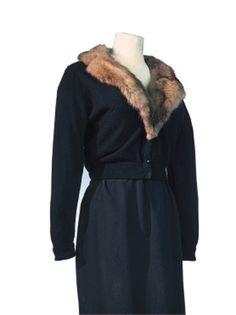 Marilyn Monroe's cloth jacket with sable fur collar.