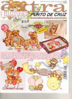 Baby Cross Stitch Patterns, Cross Stitch Baby, Cross Stitch Animals, Cross Stitch Magazines, Cross Stitch Books, Vintage Cross Stitches, Beaded Cross Stitch, Cross Stitching, Teddy Bear