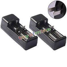 Niers 1pcs Universal Charger For Lithium Li-Ion 14500 18650 16340 CR123 Battery US Plug
