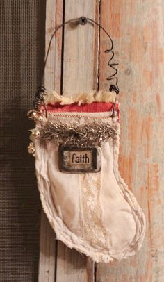 Christmas tree ornament.....faith stocking by nelliewortman