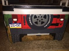 sigma chi jeep license plate cooler