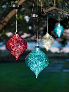 Hanging Onion Solar Ornament