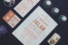 I Heart City by Oddds, via Behance   A campaign guide for locals and tourists alike in Singapore. Travelling along indie and vibrant parts of Singapore - introducing the many homegrown delights, cafes, food, array of architectural and cultural sights.
