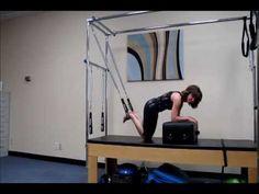PilaTRX killer core workout on pilates cadillac core stability workout Stability Exercises, Pilates Reformer Exercises, Core Stability, Pilates Workout, Pilates Fitness, Workouts, Pilates Challenge, 30 Day Workout Challenge, Pilates Tower