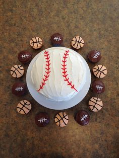 W's sports themed birthday
