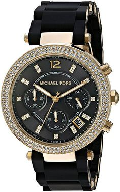 Get This Parker Black Watch #Michael #Kors #Fashion