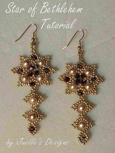 Tutorial for the Star of Bethlehem Earrings. $12.00, via Etsy.